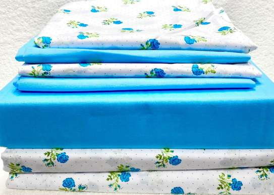 bed sheets 5 by 6 dotted blue image 1