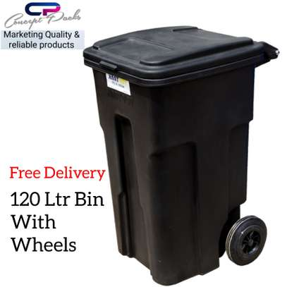 120ltr Garbage bin with wheels image 1