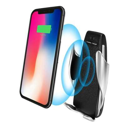 Car Wireless Charger S5 Smart Sensor Stand - Black image 2