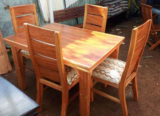 4seater solid dining table image 1