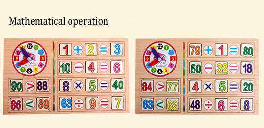 Multifunctional Kids Wooden Math Toys Montessori Early Learning Educational Baby Gift image 5