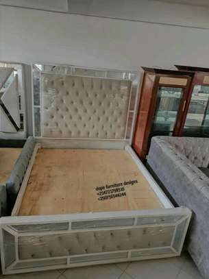 Mirrored 5*6 bed/modern bed. image 1