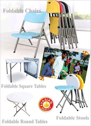 Foldable chairs, tables and Stools on offer image 1