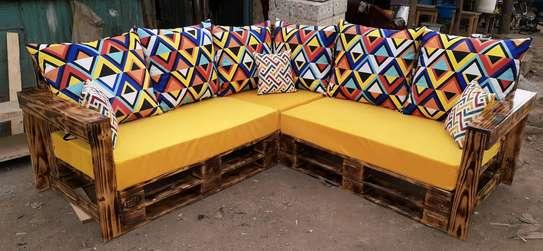 5 seater Pallet sofa/pallet furniture/corner seat image 3