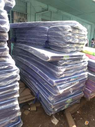 4 by 6 Medium Density 4 thick blue students' mattress brand new free delivery image 1