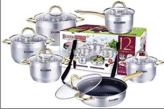 Bohminox 12 pieces cooking pots stainless steel image 1