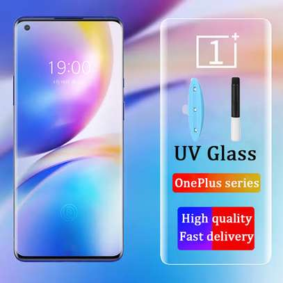 OnePlus 8 Pro UV Tempered Glass Screen Protector image 1