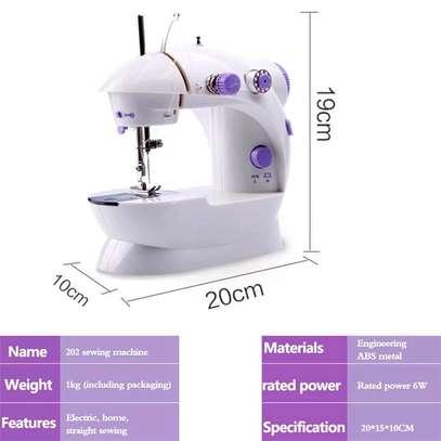 White mini sewing machines image 2