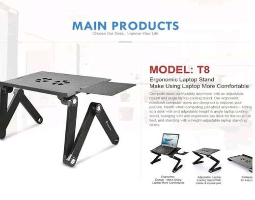 Laptop Stand Adjustable Laptop Desk With Mouse Pad image 3