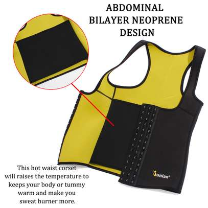 Women Neoprene Waist Trainer Vest Corset Sauna Body Shaper Weight Loss image 4
