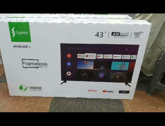 """Syinix 43"""" inch smart~A20 series ~4k Uhd Android ~frameless image 1"""