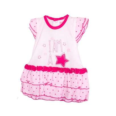 2pc girl set(frock and pink panty) image 1