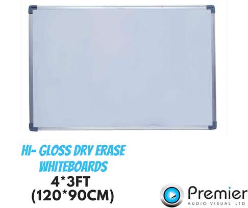 120cm by 90cm Hi gloss whiteboards image 1