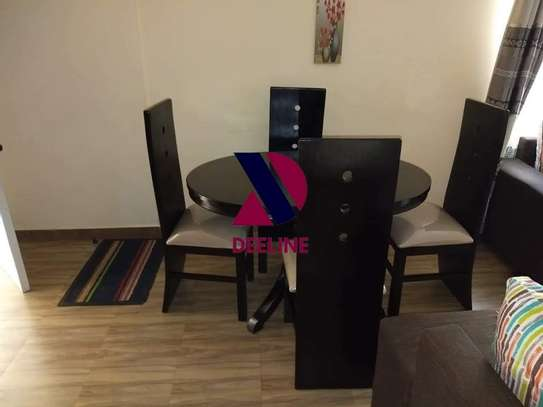 Black 4 Seater Dining Table. image 1
