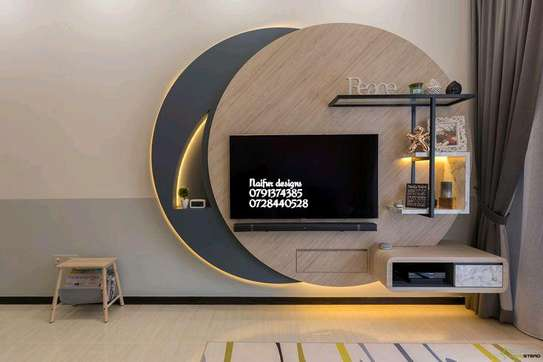 Modern shelves/classic tv stands/book case tv stands image 1