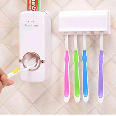 Toothpaste dispenser+ 5 toothbrush holder image 2