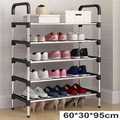Shoe Organizer Rack Stainless Steel For Household image 1
