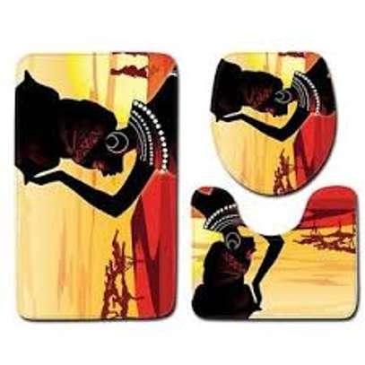 African themed bathroom mats image 2