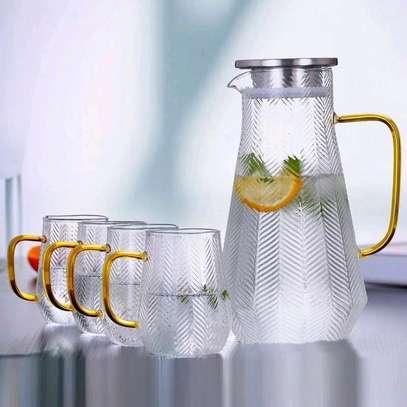 High borosilicate glass jug set image 1