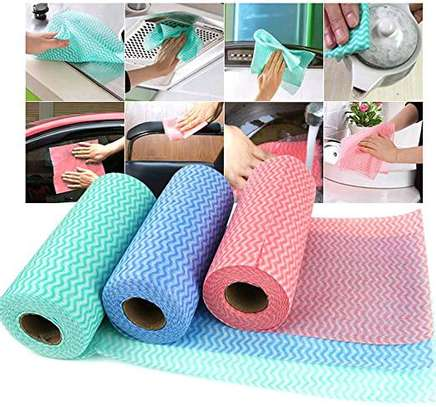 Re~usable paper towel roll mat image 1