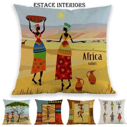 AFRICAN PRINT PILLOW CASES image 2