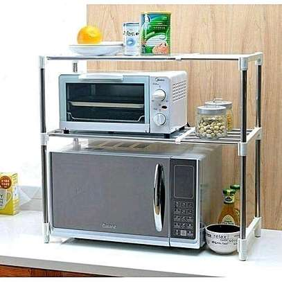 Stainless stand for microwave image 2