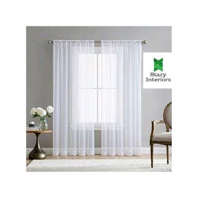 Window brown curtains with free sheers image 2