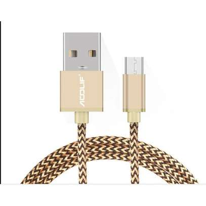 1M Micro USB Charging Cable(Colour Gold) image 4