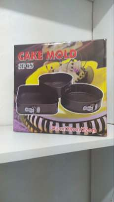 Aluminum non stick Cake Mould set image 1