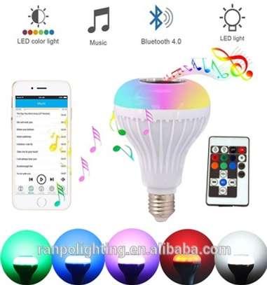 Changing light Bulb Bluetooth music image 2