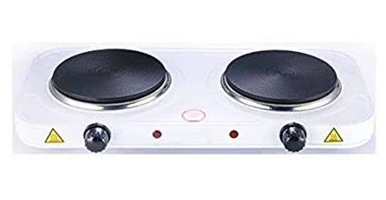 Double hot plate with a smooth flat top image 1
