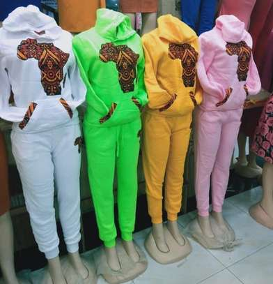 African themed track suits image 1