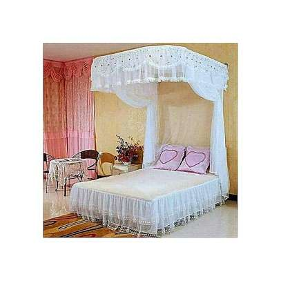 2 STAND MOSQUITO NET WITH SLIDING RAILS- WHITE