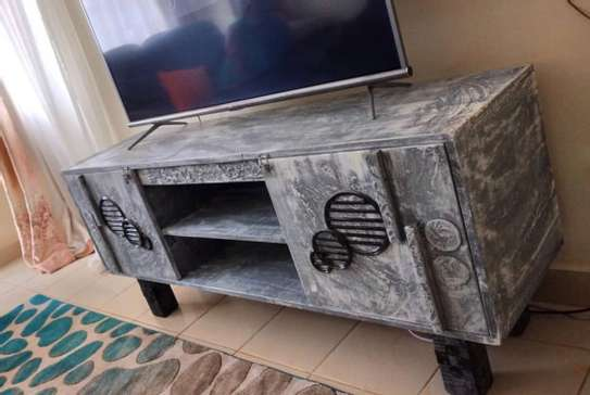 ARTISTIC RUSTIC TV STAND image 1