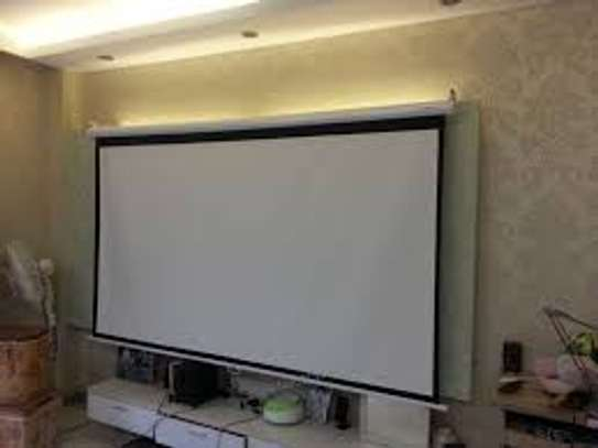 3M by 3M Electric Projection Screen image 1