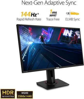 """Asus TUF Gaming VG27AQ 27"""" Monitor, 1440P WQHD (2560 x 1440), IPS, 165Hz (Supports 144Hz), G-SYNC Compatible, 1ms, Extreme Low Motion Blur Sync, Eye Care, DisplayPort HDMI image 2"""