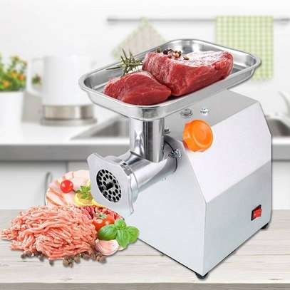 TK12 electric meat grinder stainless steel image 1