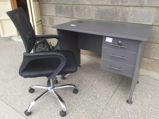 Desk 1Meter + Chair Ksh. 12,500 With Free Delivery. If 1.2Meter Desk + Chair Ksh. 13,500 Which Includes Free Delivery. Call 0732 678 702 For More Information.