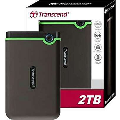 Transcend External Hard Drive - 2TB - USB 3.0 - Black
