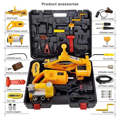 Electric Car Jack 3 In 1 - Electric Car Jack, Air Compressor & Wrench image 1