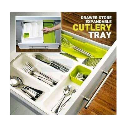 Kitchen Expandable Cutlery Drawer Organizer Tray image 1