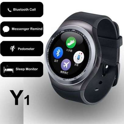 Smart Watch Y1 With GSM Slot For IOS And Android With Camera image 1