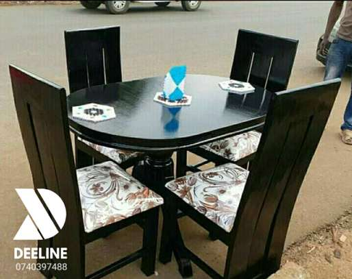 5 Piece Mahogany Framed Dining Table Sets. image 5