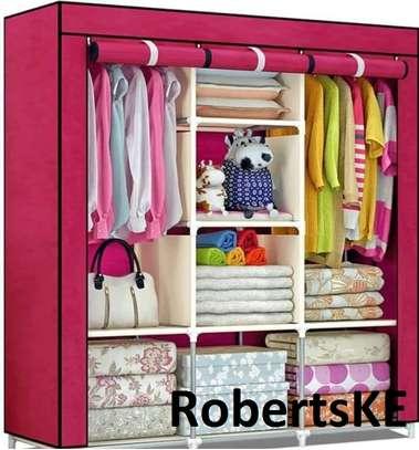 pink portable wardrobe image 1