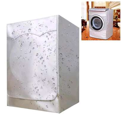 White quality front load washing machine cover image 1