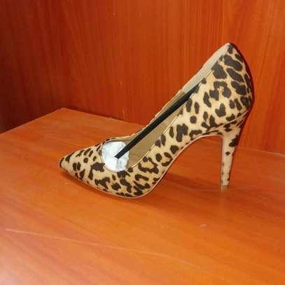 Ladies animal print heels image 2