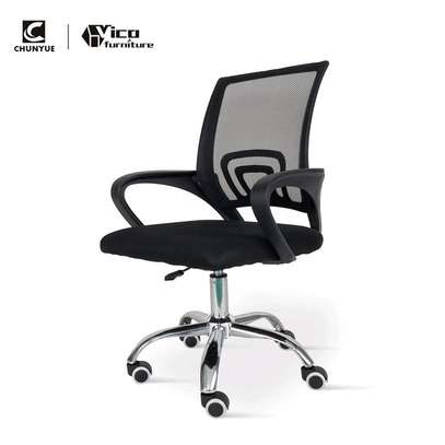 Low back secretary office chair H19D image 1