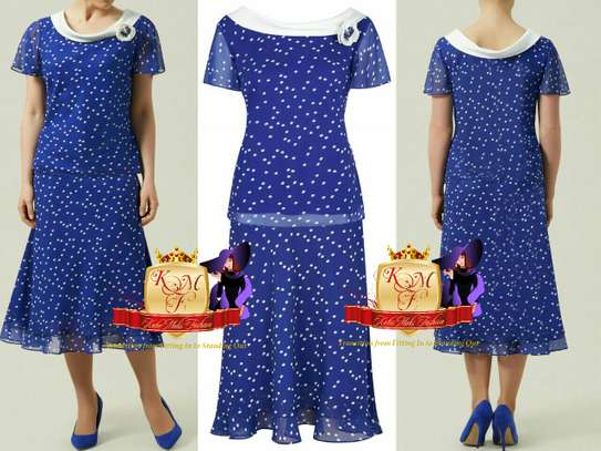 Royal Blue Spotted Dress image 1
