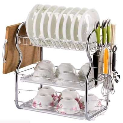 Dish Rack ‐ 3 Tier with  Drain image 2