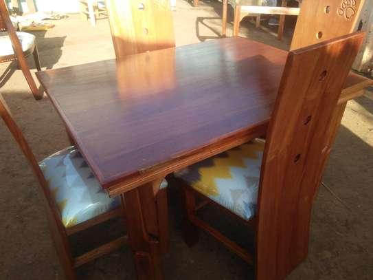 4 seater mahogany dining table image 7